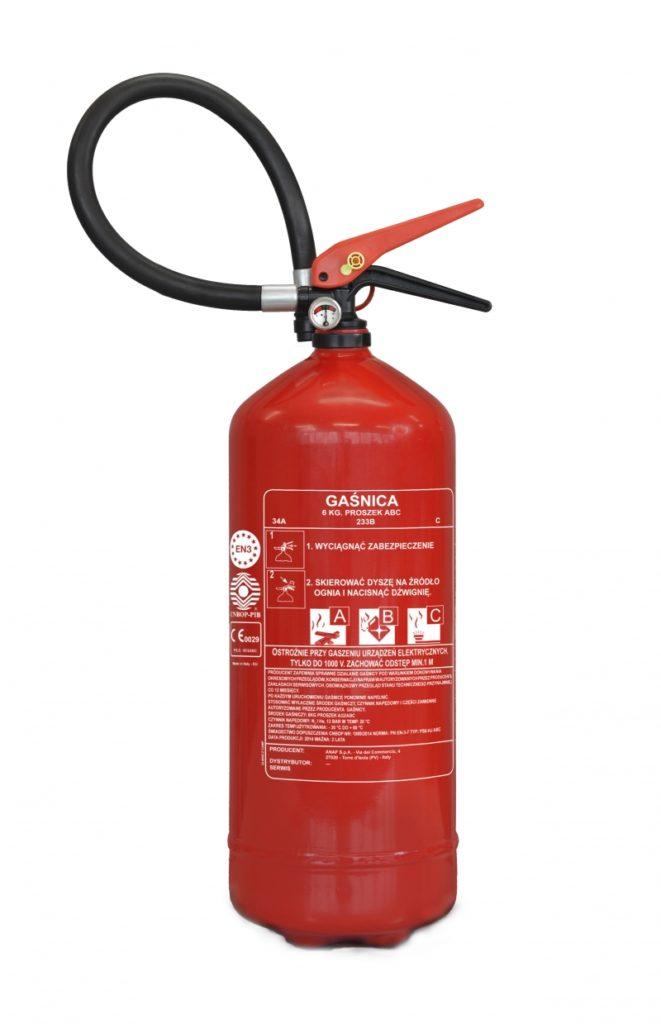 gaśnica proszkowa PS6-HJ 6 kg ABC